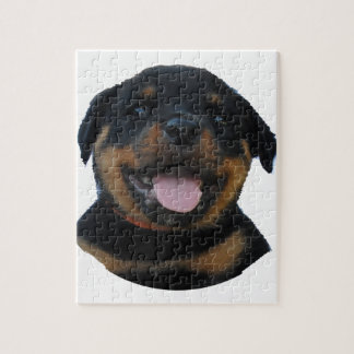 Happy Male Rottweiler Puppy Jigsaw Puzzle
