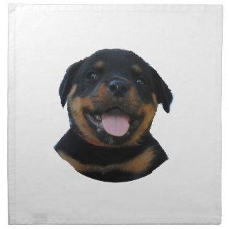 Happy Male Rottweiler Puppy Napkin