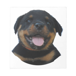 Happy Male Rottweiler Puppy Notepad