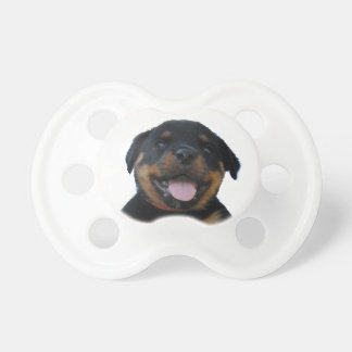 Happy Male Rottweiler Puppy Pacifier