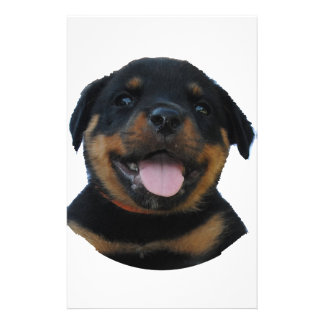 Happy Male Rottweiler Puppy Stationery