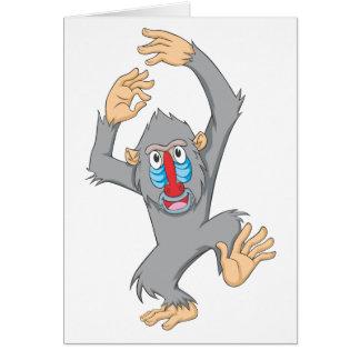 Happy Mandrill Monkey Card