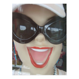 Happy Mannequin Head Postcard