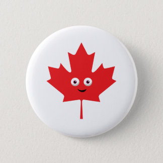Happy Maple Leaf 2 Inch Round Button