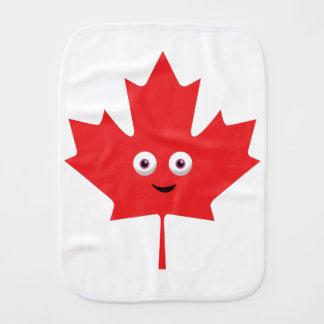 Happy Maple Leaf Baby Burp Cloth