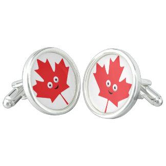 Happy Maple Leaf Cufflinks
