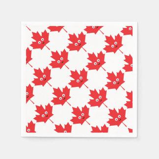 Happy Maple Leaf Paper Napkins