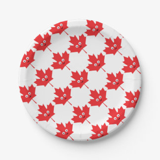 Happy Maple Leaf Paper Plate