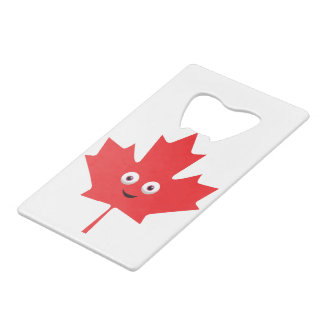 Happy Maple Leaf Wallet Bottle Opener