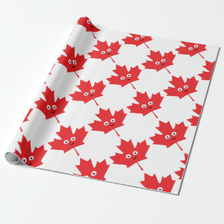Happy Maple Leaf Wrapping Paper