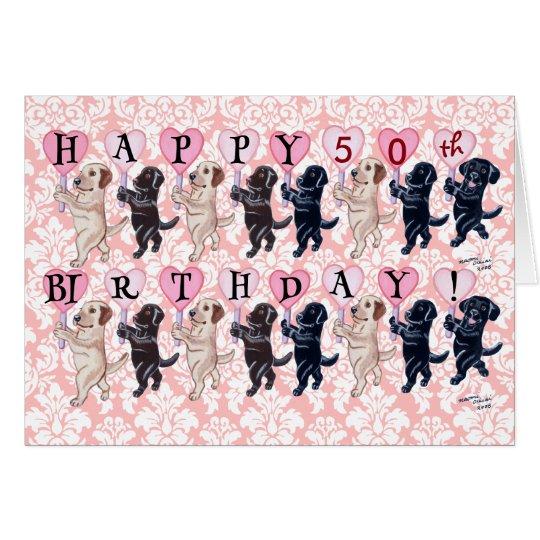 Happy Marching Labradors Birthday Card