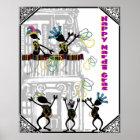 Happy Mardi Gras--Balcony Scene Poster