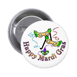 Happy Mardi Gras Button