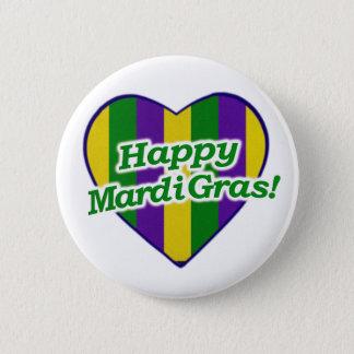 Happy Mardi Gras Logo 2 Inch Round Button