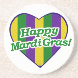 Happy Mardi Gras Logo Coaster