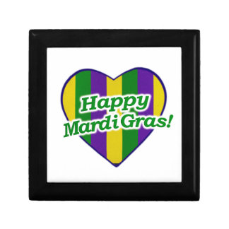 Happy Mardi Gras Logo Gift Box