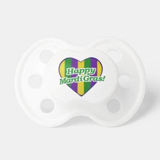 Happy Mardi Gras Logo Pacifier