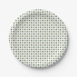 Happy Mardi Gras Logo Paper Plate
