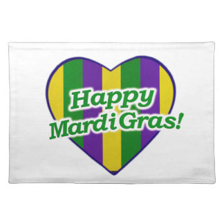 Happy Mardi Gras Logo Placemat
