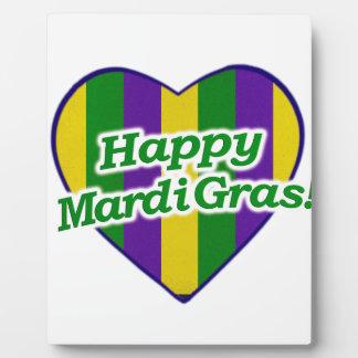 Happy Mardi Gras Logo Plaque
