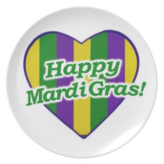 Happy Mardi Gras Logo Plate
