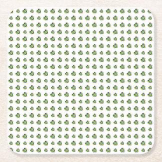Happy Mardi Gras Logo Square Paper Coaster