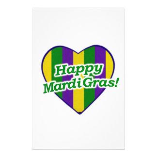 Happy Mardi Gras Logo Stationery