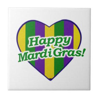 Happy Mardi Gras Logo Tile