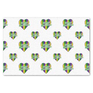 Happy Mardi Gras Logo Tissue Paper