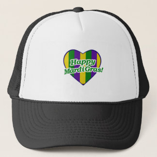 Happy Mardi Gras Logo Trucker Hat