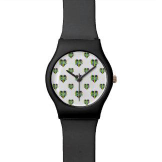 Happy Mardi Gras Logo Wrist Watches