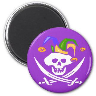 Happy Mardi Gras Pirate Magnet