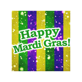 Happy Mardi Gras Poster Canvas Print