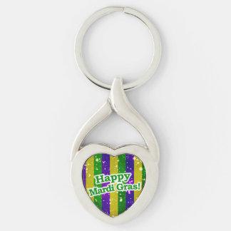 Happy Mardi Gras Poster Keychain