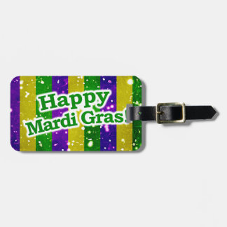 Happy Mardi Gras Poster Luggage Tag