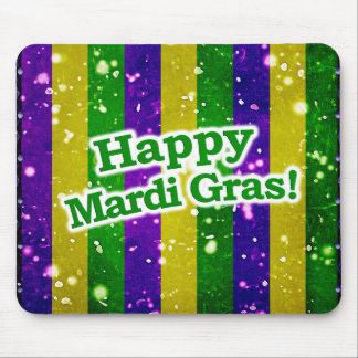 Happy Mardi Gras Poster Mouse Pad