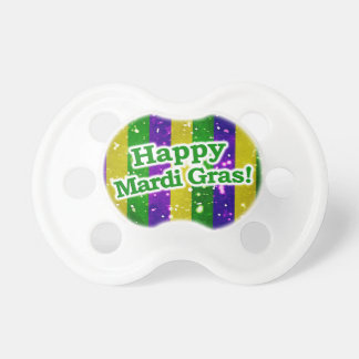 Happy Mardi Gras Poster Pacifiers