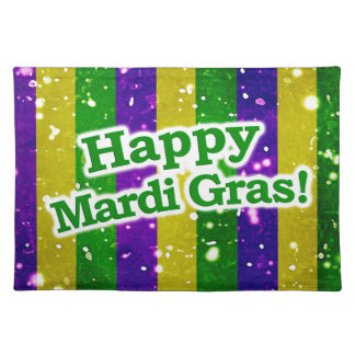 Happy Mardi Gras Poster Placemat
