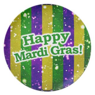Happy Mardi Gras Poster Plate