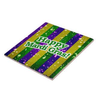 Happy Mardi Gras Poster Tile