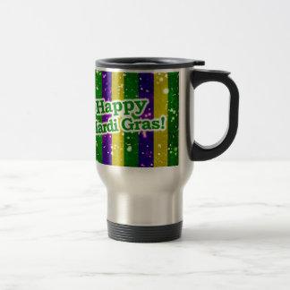 Happy Mardi Gras Poster Travel Mug