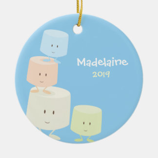 Happy Marshmallows Christmas Ornament