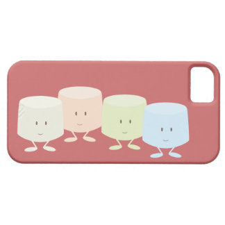Happy marshmallows standing together iPhone 5 cases