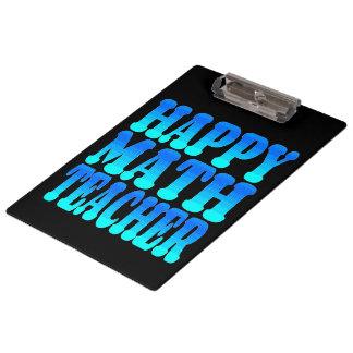 Happy Math Teacher Clipboard