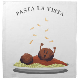 "Happy Meatball ""Pasta La Vista!"" Napkin"