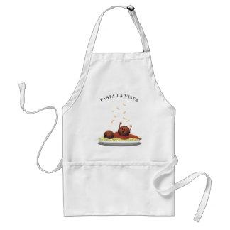 "Happy Meatball ""Pasta La Vista!"" Standard Apron"