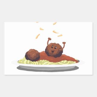 """Happy Meatball """"Pasta La Vista!"""" Sticker"""