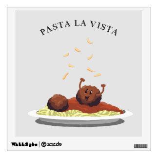 """Happy Meatball """"Pasta La Vista!"""" Wall Decal"""