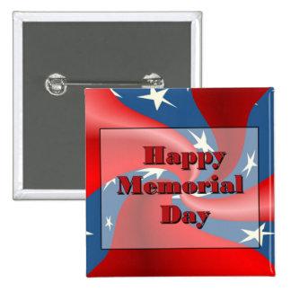 Happy Memorial Day 2 Inch Square Button
