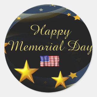 Happy Memorial Day Round Sticker